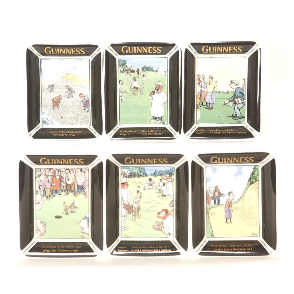 Guinness Set of 6 Pin Trays - Royal Doulton Advertising Character