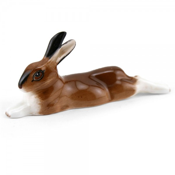Hare Lying Legs Stretched HN2594 - Royal Doulton Animals