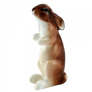 Hare Seated Ears Down K38 - Royal Doulton Animals