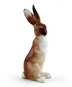 Hare Seated Ears Up K39 - Royal Doulton Animals