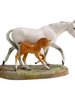 Gude Grey Mare and Foal HN2519 - Royal Doulton Animal