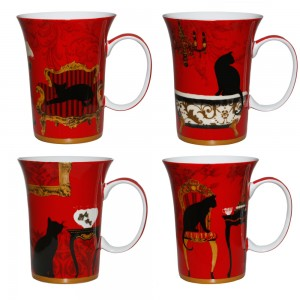 Mystical & Curious Cats - Set of 4 Mugs - Boxed Mug Sets