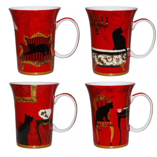 Mystical & Curious Cats - Set of 4 Mugs - Boxed Mug Sets