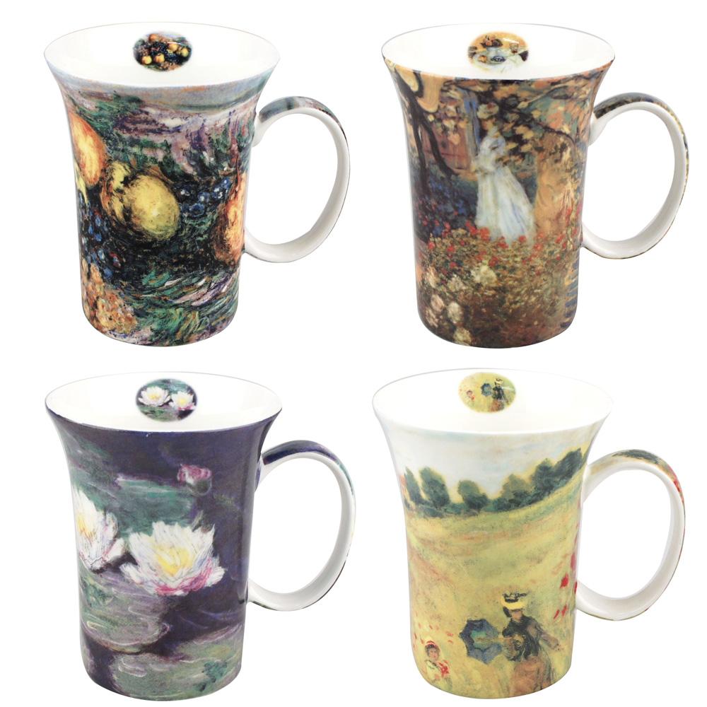 Monet - Set of 4 Mugs - Boxed Mug Sets