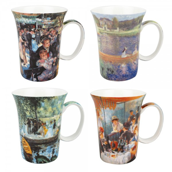 Renoir - Set of 4 Mugs - Boxed Mug Sets
