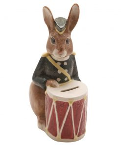 Bunnykins Bank (Brown Rabbit) D6615B - Bone China - Royal Doulton Bunnykins