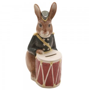 Bunnykins Bank (Brown Rabbit) D6615B - Bone China - Royal Doulton Bunnykins