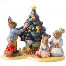 Christmas Tree Tableaux DB477 - Royal Doulton Bunnykins