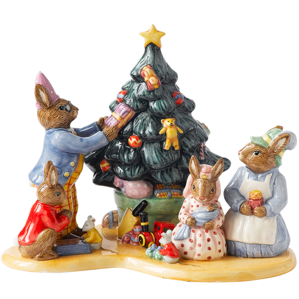 Christmas Tree Tableaux DB477 - Royal Doulton Bunnykins