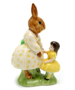 Dollie Playtime Bunnykins DB80 (Hornes Backstamp) - Royal Doulton Bunnykins