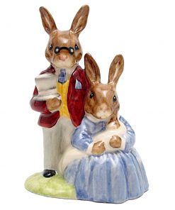 Father, Mother and Victoria DB68 - Royal Doulton Bunnykins