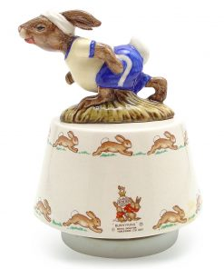 Jogging Bunnykin Music Box. King of the Road - Royal Doulton Bunnykins
