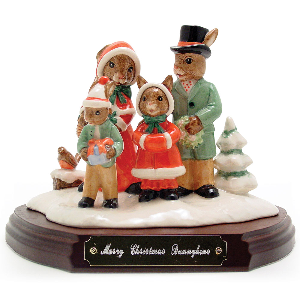 Merry Christmas Tableau DB194 - Royal Doulton Bunnykins