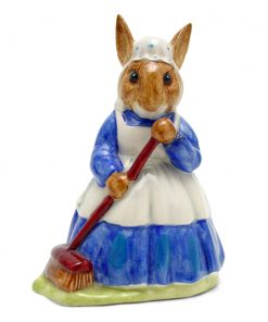 Mrs. Bunnykin Clean Sweep DB6 - Royal Doulton Bunnykins