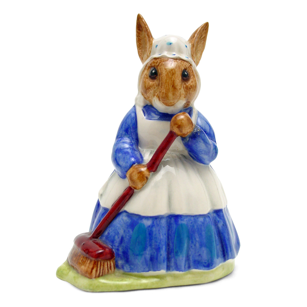 Mrs. Bunnykin Clean Sweep DB6 - Royal Doulton Bunnykins