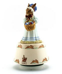 Mrs. Bunnykins at the Easter Parade Music Box DB39 - Royal Doulton Bunnykins