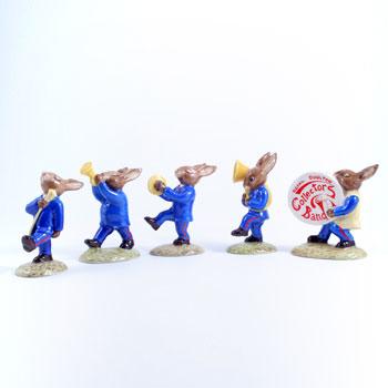Oompah Blue Band Bunnykins DB86_DB90 - Royal Doulton Bunnykins