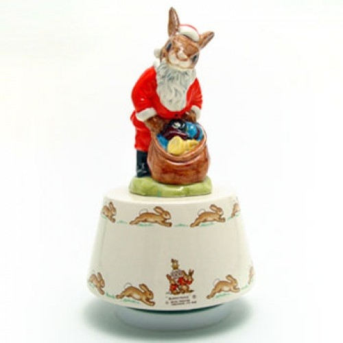 White Christmas Music Box DB34 - Royal Doulton Bunnykins