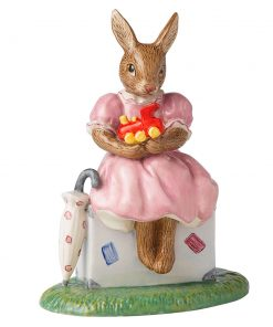 Sitting on a Suitcase Bunnykins DB482 - Royal Doulton Bunnykins