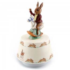 Tally Ho Music Box, Maroon DB33B - Royal Doulton Bunnykins