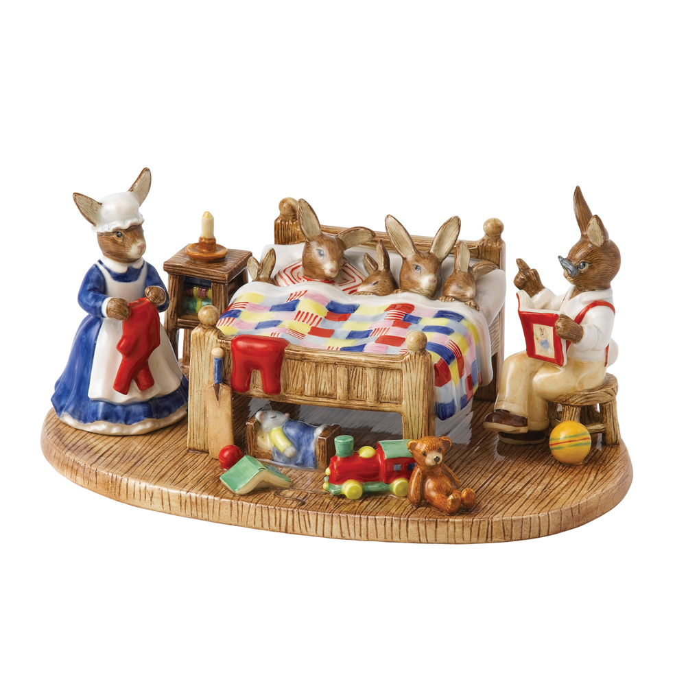 Bedtime Story Tableau 2013 - Royal Doulton Bunnykins