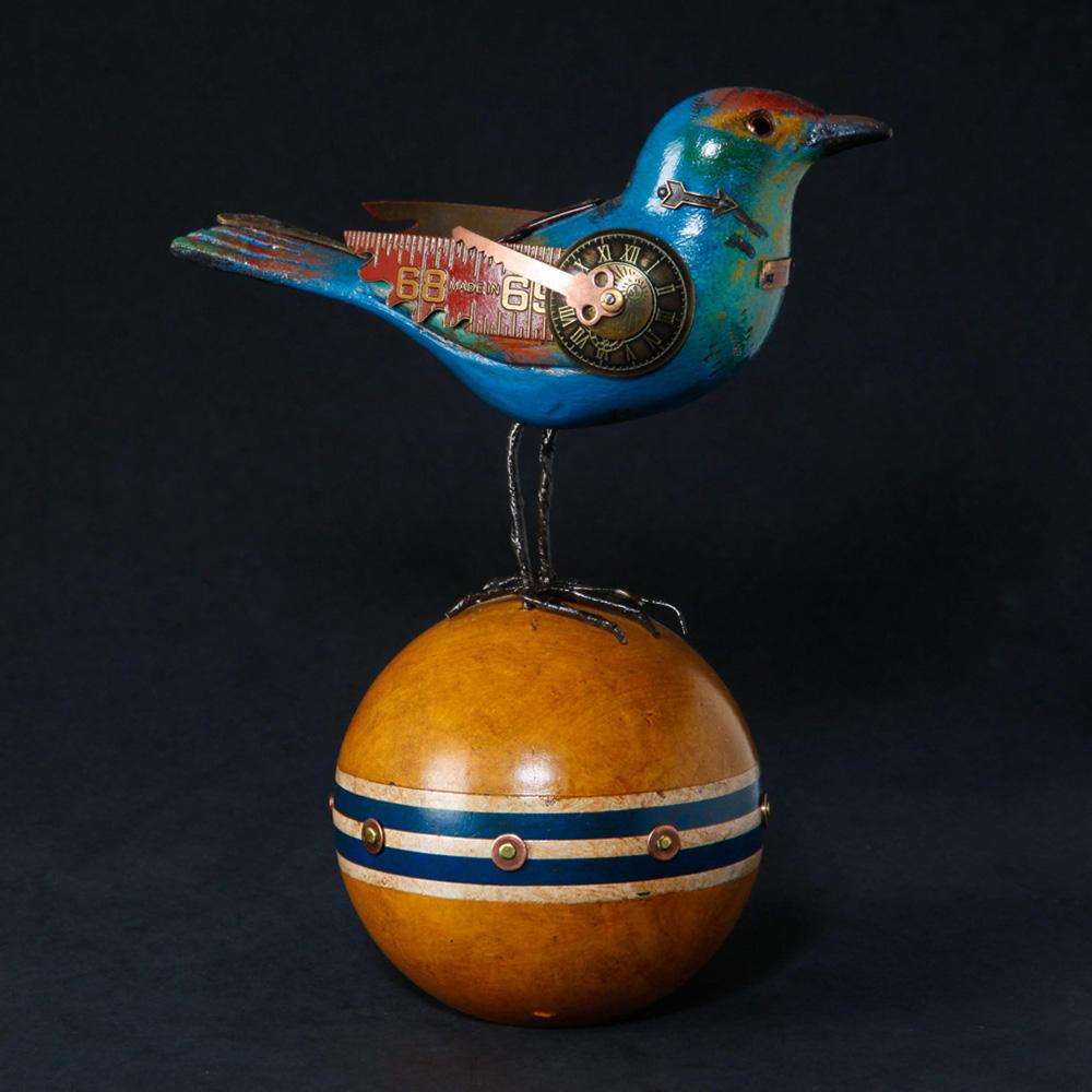 Blue Red Bird Croquet Ball