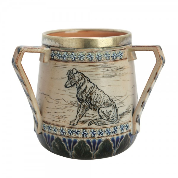 Barlow Tyg - Scenes with Dogs (Metal Rim and decorative handles)  - Royal Doulton Barlow Tyg