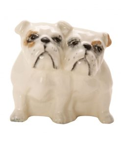Bulldogs Seated 3384 - Beswick Animals