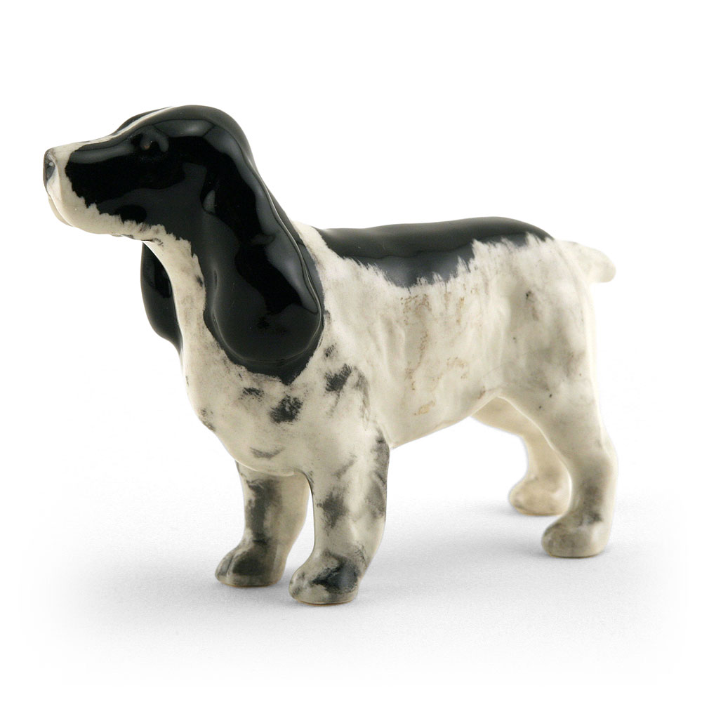 Cocker Spaniel 1754, Black & White - Beswick Animals