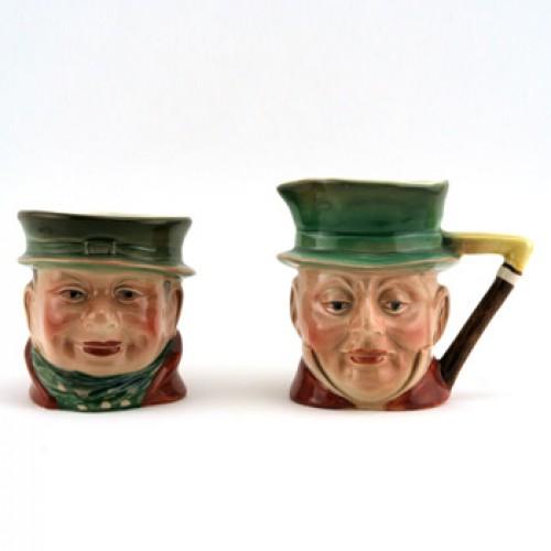 Mr Micawber & Tony Weller Sugar & Creamer Set - Beswick Figurine