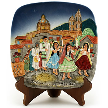 Plaque Christmas in Mexico - Beswick Figurine