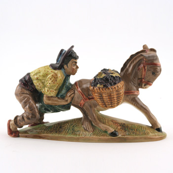 Spaniard Pushing Donkey - Beswick Animals