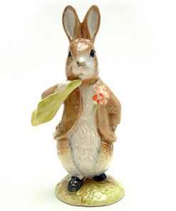 Benjamin Bunny Ate a Lettuce Leaf - Royal Albert - Beatrix Potter Figurine