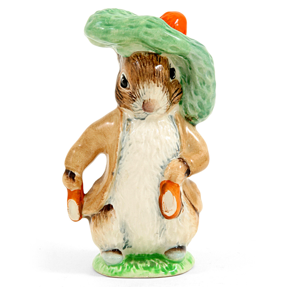 Benjamin Bunny (Ears In/Shoes In) - Royal Albert - Beatrix Potter Figurine