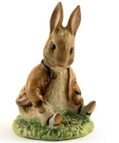 Benjamin Bunny Sat on a Bank - Royal Albert - Beatrix Potter Figurine