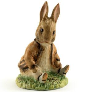 Benjamin Bunny Sat on a Bank - Royal Albert - Beatrix Potter Figurine