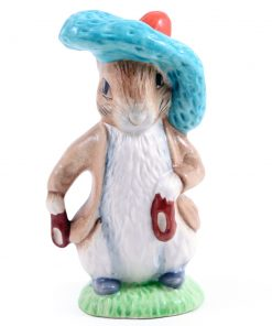 Benjamin Bunny (Ears In/Shoes In - Satin Finish) - New Beswick - Beatrix Potter Figurine