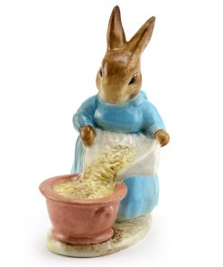 Cecily Parsley Head Down - Gold Oval - Beatrix Potter Figurine