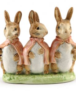 Flopsy - Mopsy and Cottontail - Gold Oval - Beatrix Potter Figurine