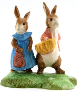 Flopsy and Benjamin (Tableau) - Beatrix Potter Figurine