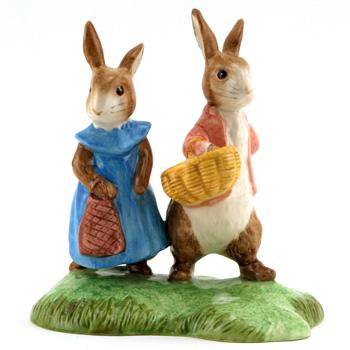 Flopsy and Benjamin (Tableau) - Beatrix Potter Figurine