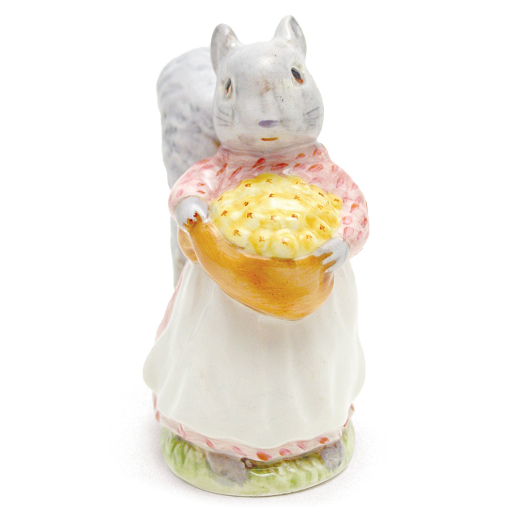 Goody Tiptoes - Gold Oval - Beatrix Potter Figurine