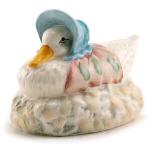 Jemima Puddle-Duck Made Feather Nest - Royal Albert - Beatrix Potter Figurine