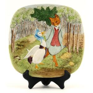 Jemima Puddle Duck Foxy Plaque - Beatrix Potter Figurine