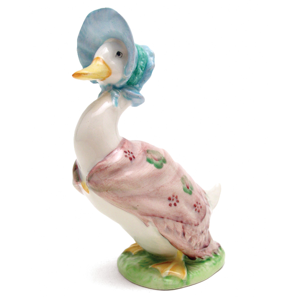 Jemima Puddle-Duck - Gold Oval - Beatrix Potter Figurine