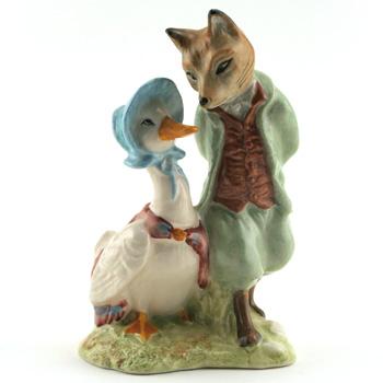 Jemima Puddle with Foxy - New Beswick - Beatrix Potter Figurine