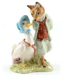 Jemima Puddle-Duck with Foxy Whiskered Gentleman - Royal Albert - Beatrix Potter Figurine