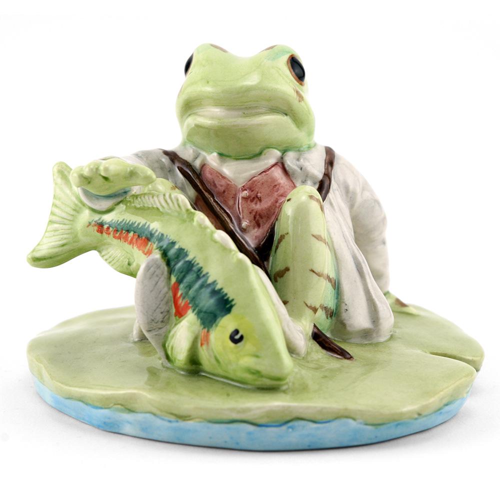 Jeremy Fisher Catches A Fish - New Beswick - Beatrix Potter Figurine