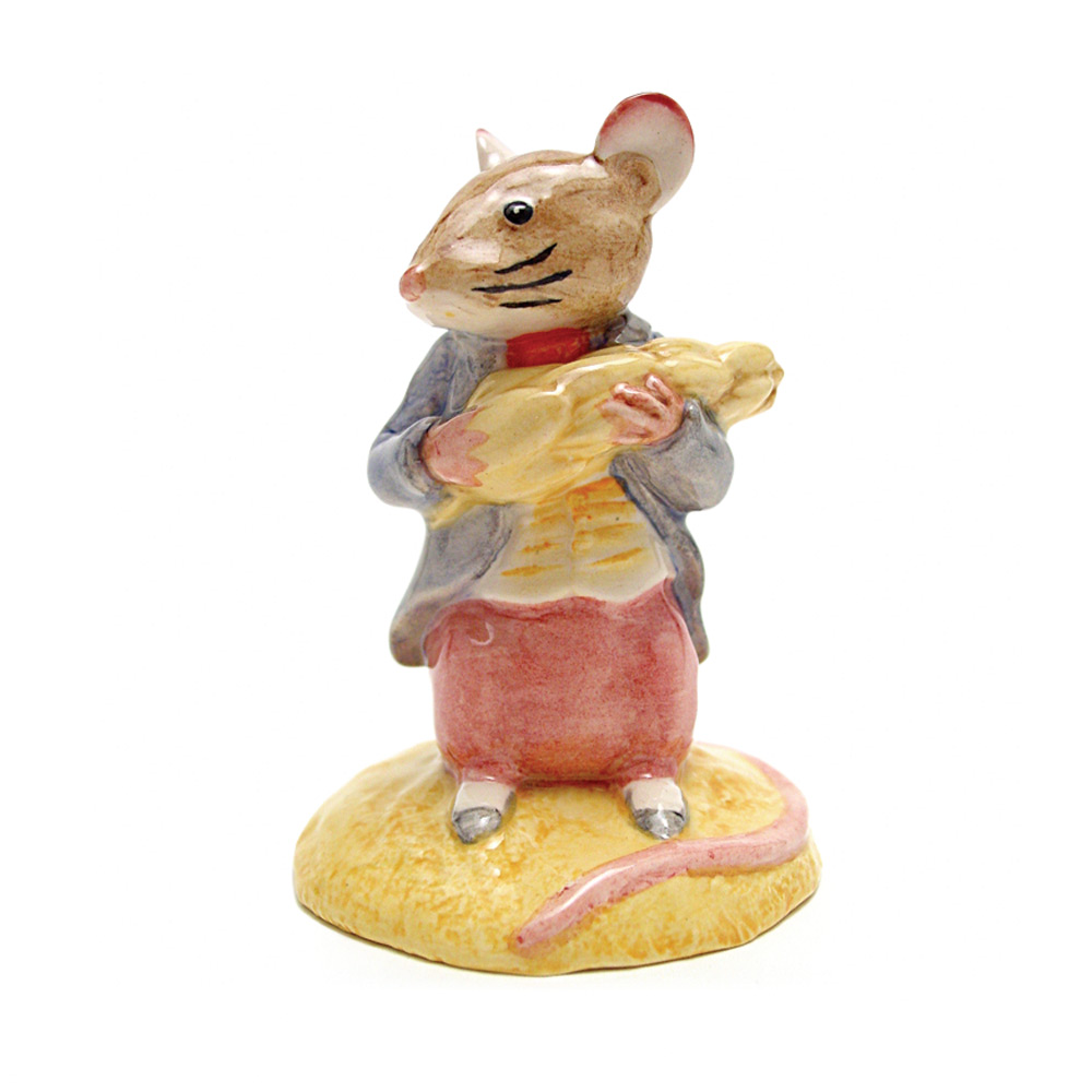 Johnny Town-Mouse Eating Corn - New Beswick - Beatrix Potter Figurine