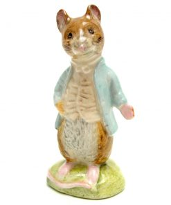 Johnny Town-Mouse - Gold Oval - Beatrix Potter Figurine